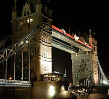 Tower Bridge Night by Ken Scarboro