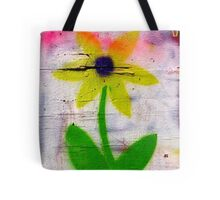brick lane graffiti orange flower Tote Bag