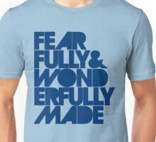 Fearfully & Wonderfully Made - Blue Unisex T-Shirt