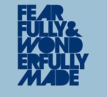 Fearfully & Wonderfully Made - Blue Unisex T-Shirt