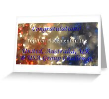 United Top Ten Banner Greeting Card