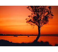 Orange Sunset Photographic Print