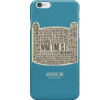 Adventure Time typography Finn head iPhone Case/Skin