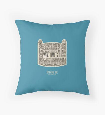Adventure Time typography Finn head Throw Pillow