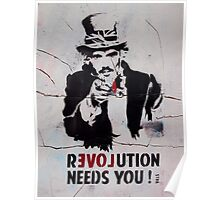 brick lane graffiti revolution Poster