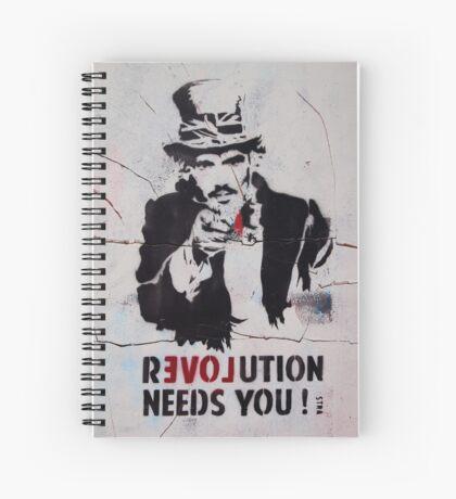 brick lane graffiti revolution Spiral Notebook