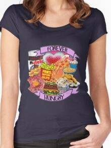 Forever Hungry Collage Women's Fitted Scoop T-Shirt