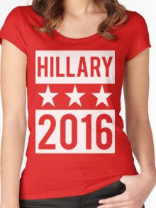 Hillary Clinton 2016 Democrat Election President Women's Fitted Scoop T-Shirt