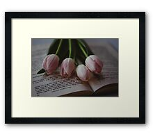 Tulips and Literature Framed Print