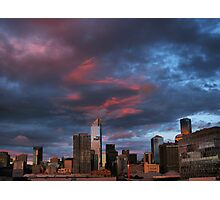 Sunset over the city. Photographic Print