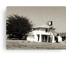 Lucille's Roadhouse in bw Canvas Print