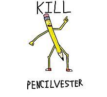 Kill Pencilvester Photographic Print