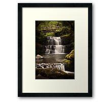 Sychryd Cascades and waterfalls Framed Print