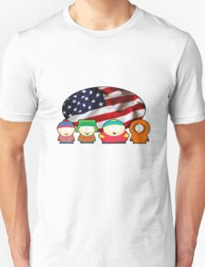 South park - US flag ( white ) Unisex T-Shirt