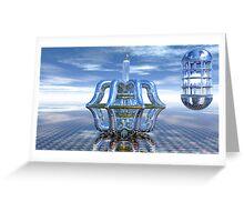 Light Bender - Metaball Sculpture Greeting Card
