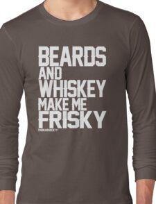 Beards and Whiskey Long Sleeve T-Shirt