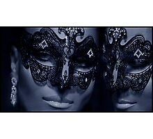 Carnivale Twins Photographic Print