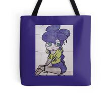 brick lane graffiti purple girl Tote Bag