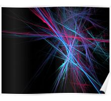 Dreamy blazing colorful lines Poster