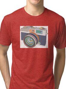 Vintage old photo camera Tri-blend T-Shirt