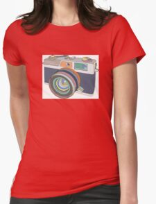 Vintage old photo camera Womens Fitted T-Shirt