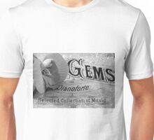 White Begonia on Gems - Pianoforte Unisex T-Shirt