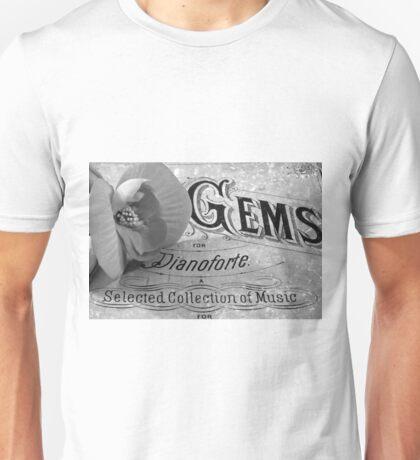 White Begonia on Gems - Pianoforte Unisex T-Shirt