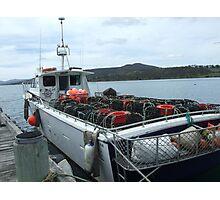 Crab Boat at Dunalley Photographic Print