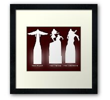 Silhouette Superheroes Framed Print