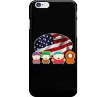 South park- US flag ( black ) iPhone Case/Skin