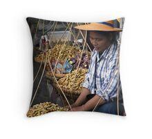 Peanut Lady Throw Pillow