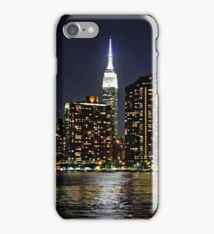 Empire State  Building - Gantry Plaza Night iPhone Case/Skin