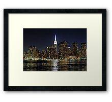 Empire State  Building - Gantry Plaza Night Framed Print