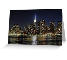 Empire State  Building - Gantry Plaza Night Greeting Card