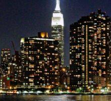 Empire State  Building - Gantry Plaza Night Sticker