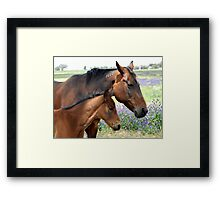 Mother and Daughter Framed Print