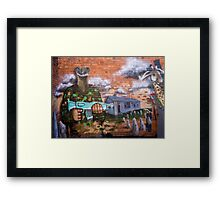 Graffiti - Bakery Lane Brisbane Framed Print