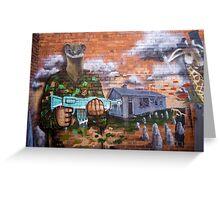 Graffiti - Bakery Lane Brisbane Greeting Card