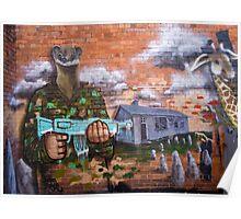 Graffiti - Bakery Lane Brisbane Poster