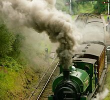 The train now departing ... by Kevin Allan