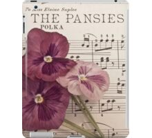 Among The Pansies  iPad Case/Skin