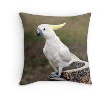 Hello Cocky - Cockatoo at Granite Gorge Throw Pillow