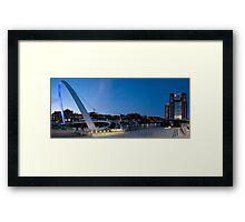 Tyne quayside panoramic Framed Print