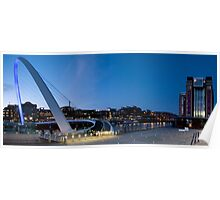 Tyne quayside panoramic Poster