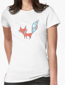 Fun and Whimsical Fox Womens Fitted T-Shirt