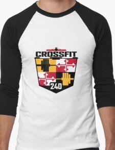 New CrossFit 240 Logo Men's Baseball ¾ T-Shirt