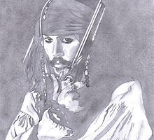 Capt Jack Sparrow (alias Johnny Depp) by jayart