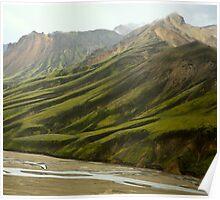 Landmannalaugar Hills, Southeast Iceland Poster