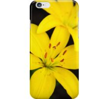 Yellow Lily Flower Art iPhone Case/Skin