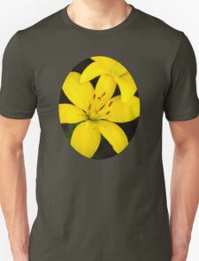 Yellow Lily Flower Art T-Shirt